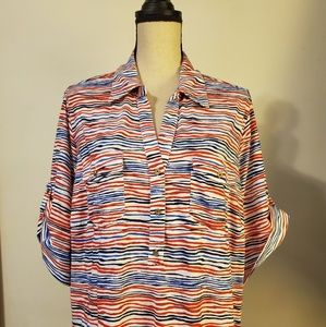 Cathy Daniels Pullover Blouse Size 2x Super Cute
